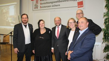 SPD-Kandidat unterstützt AVE-Kampagne