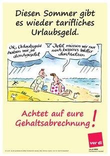 Plakat zum Urlaubsgeld