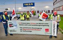 Auftaktaktion Tarifrunde GAH - Ikea Zentrallager Dortmund 29.04.2021